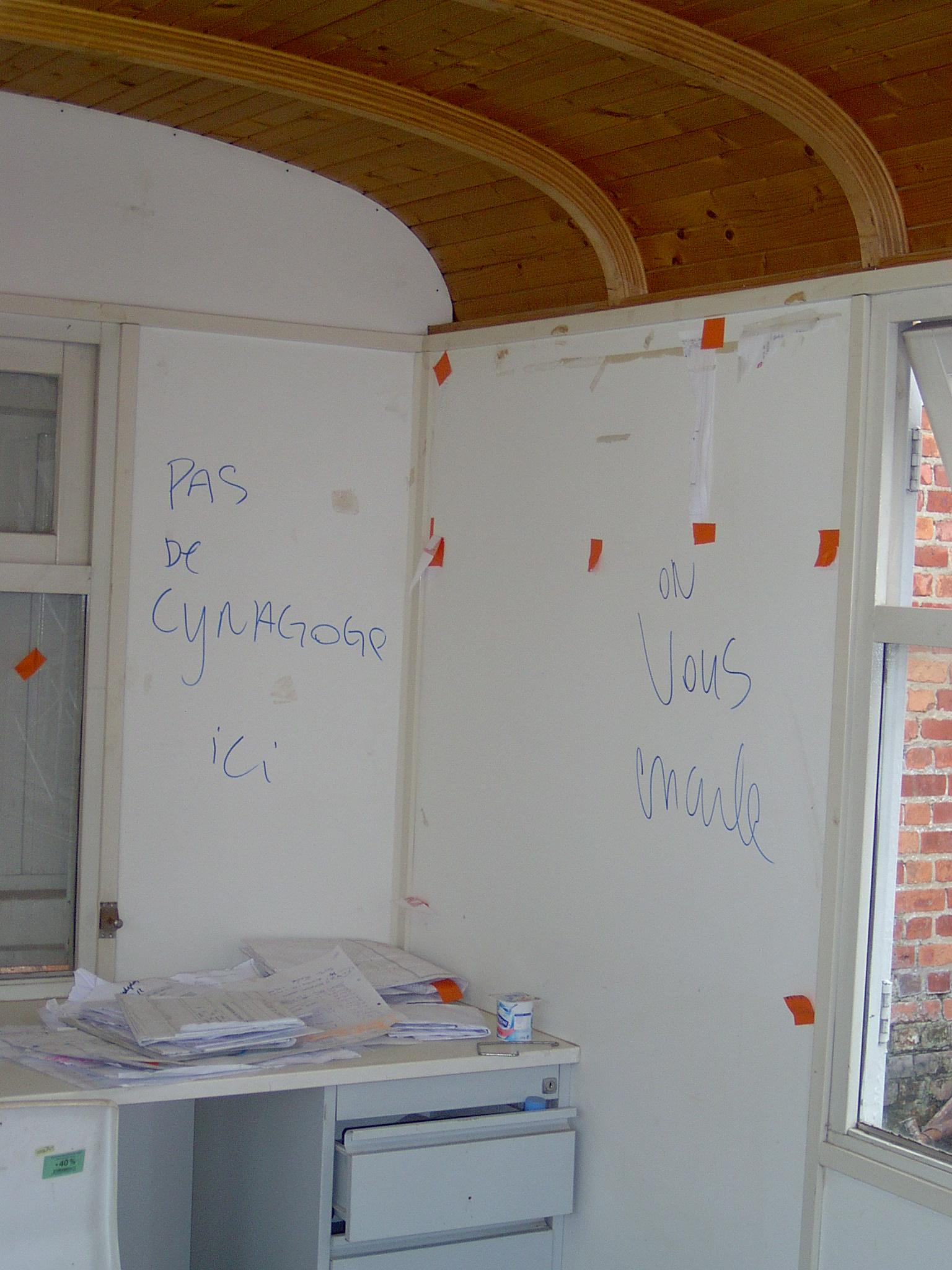 Vandalisme sur le chantier d'une synagogue à Bruxelles