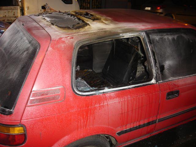 Voiture d'un membre de la Communauté juive de Bruxelles incendiée