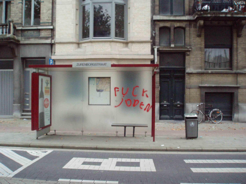 Graffiti antisémite découvert à Berchem