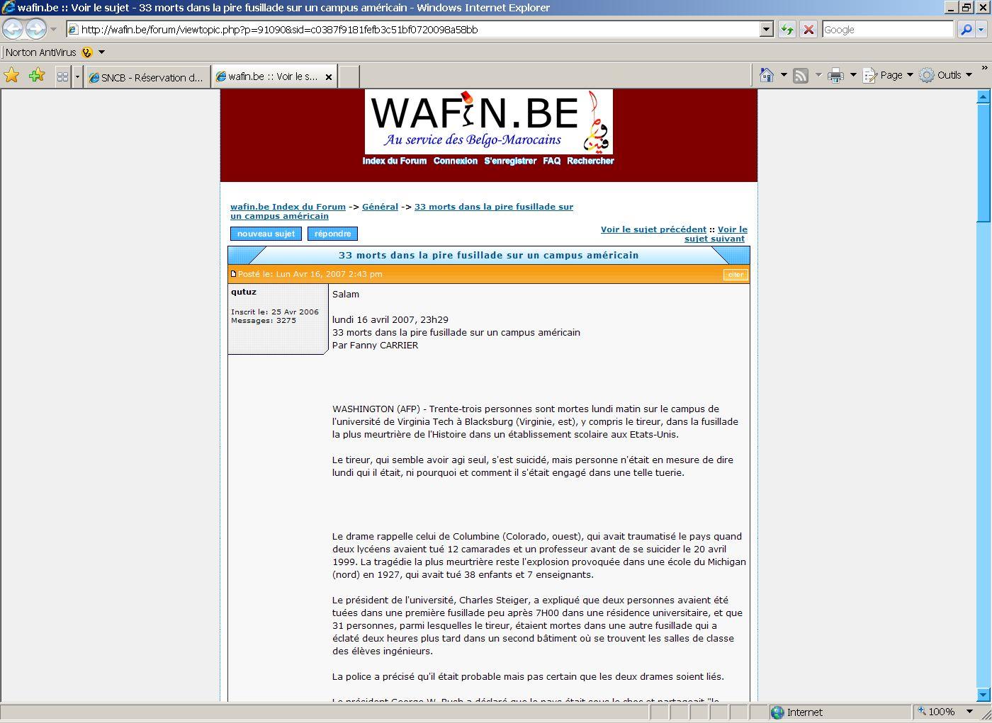 Propos antisémites tenus sur un forum internet