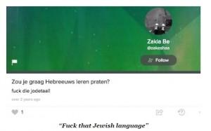 20160521 - Zakia Belkhiri - Fuck that Jewish language - 2014