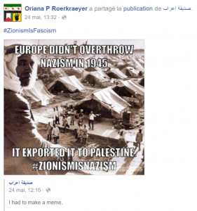 20160524 - Facebook - nazification Israel